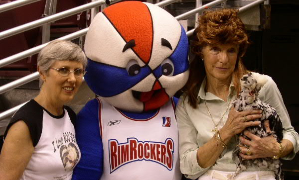 Boo Boo with RimRocker Mascot