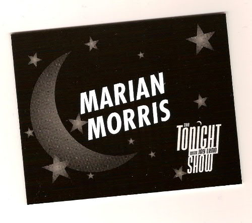 Marian Morris dressing door sign